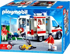 Playmobil Rescue Set #4221 Ambulance [Working Lights!]