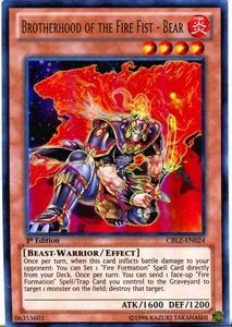 YuGiOh Zexal Cosmo Blazer Single Card Ultra Rare CBLZ-EN024 Brotherhood of the Fire Fist - Bear