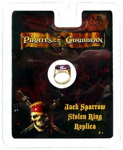 Master Replicas Pirates of the Caribbean Prop Replica Jack Sparrow's Stolen Ring Hot!