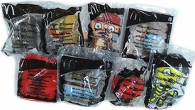 Pirates of the Caribbean Dead Man's Chest McDonalds Happy Meal Toys Set of 8