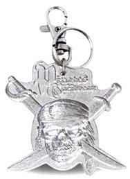 Pirates of the Caribbean Dead Man's Chest Pewter Keyring Keychain Skull & Bones