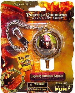 Pirates of the Caribbean Dead Man's Chest Spinning Keychain