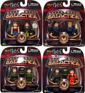 Battlestar Galactica Modern Series 3 Set of All 4 Minimates 2-Packs [Includes Variant]