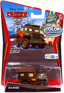 Disney / Pixar CARS 2 Movie 1:55 Exclusive Color Changers Sarge