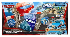 Disney / Pixar CARS 2 Movie Exclusive Color Changers Track Set Color Splash Speedway