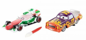 Disney / Pixar CARS 2 Movie 1:55 Exclusive Color Changers 2-Pack Francesco Bernoulli & Darrel Cartrip