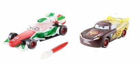 Disney / Pixar CARS 2 Movie 1:55 Exclusive Color Changers 2-Pack Lightning McQueen & Francesco Bernoulli
