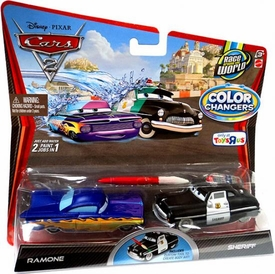 Disney / Pixar CARS 2 Movie 1:55 Exclusive Color Changers 2-Pack Ramone & Sheriff