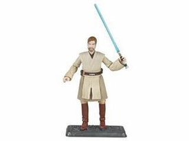 Star Wars Saga 2008 30th Anniversary Wave 1 Action Figure #01 Obi-Wan Kenobi On Lava Platform