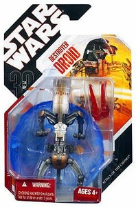 Star Wars 30th Anniversary Saga 2008 Action Figure Destroyer Droid with Protective Energy Shield