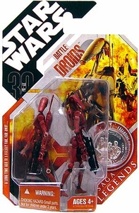 Star Wars 30th Anniversary Saga 2007 Legends Action Figure #09 Geonosis Battle Droid 2-Pack