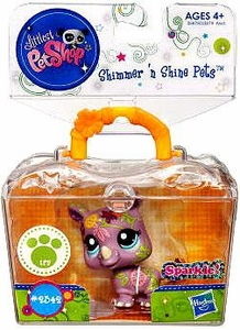 Littlest Pet Shop Shimmer 'N Shine Figure #2342 Rhino