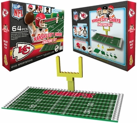 OYO Football NFL Generation 1 Team Field Endzone Set Kansas City Chiefs