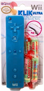 Nintendo Wii Klik Ultra Candy Dispenser with Candy Rolls Blue