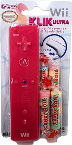 Nintendo Wii Klik Ultra Candy Dispenser with Candy Rolls Pink
