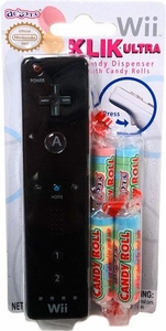 Nintendo Wii Klik Ultra Candy Dispenser with Candy Rolls Black