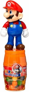 Nintendo Super Mario Brothers Barrel Candy Container Mario