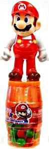 Nintendo Super Mario Barrel Candy Container Fire Mario