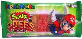 Nintendo Super Mario Gummy Candy Pack Sour 3 Dees