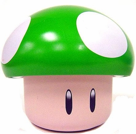 New Super Mario Brothers Candy Tin Green Mushroom [Apple Sours]