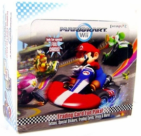 Super Mario Kart Wii Enterplay Trading Card Fun Pak Box [24 Packs]