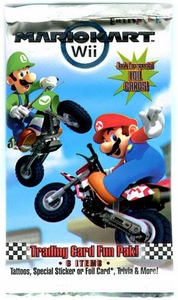 Super Mario Kart Wii Enterplay Trading Card Fun Pak