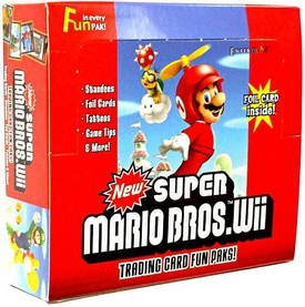 New Super Mario Bros. Wii Enterplay Trading Card Fun Pak Box [24 Packs]