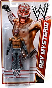 Mattel WWE Wrestling Basic Signature Series 4 Action Figure Rey Mysterio [Gray Mask & Gray Pants] BLOWOUT SALE!