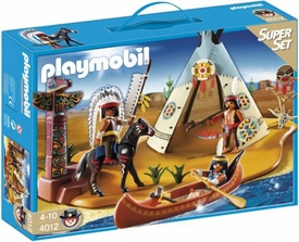 Playmobil Western Set #4012 Super Set Native American Camp
