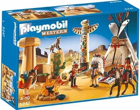 Playmobil Western Set #5247 Native American Camp & Totem Pole