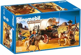 Playmobil Western Set #5248 Covered Wagon & Raiders