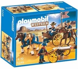 Playmobil Western Set #5249 Horse-Drawn Carriage & Cavalry Rider