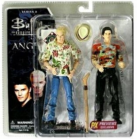 Buffy the Vampire Slayer Exclusive Series 2 Deluxe Action Figure 2-Pack Hawaiian Shirt Angel & Spike