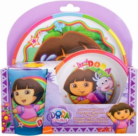 Dora the Explorer 3-Piece Mealtime Set [Plate, Bowl & Tumbler]