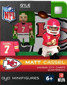 OYO Football NFL Building Brick Minifigure Matt Cassel  [Kansa City Chiefs]