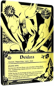 Naruto Card Game Tin Promo Single Card Super Black & Gold Rare 480 Deidara [Plastic Arts]