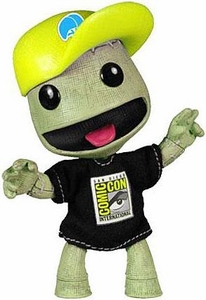 Mezco Toyz Little Big Planet 2011 SDCC San Diego Comic Con Exclusive Figure Burlap Sackboy with Baseball Hat & T-Shirt