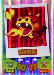 Topps Moshi Monsters Mash Up! Trading Card Game Rainbow Foil Single Card Burnie