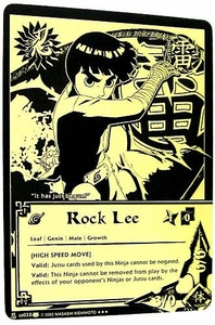 Naruto Card Game Tin Promo Single Card Super Black & Gold Rare US020 Rock Lee [High Speed Move]