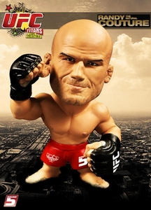 Round 5 UFC Titans Vinyl Action Figure Randy Couture [Red Shorts]