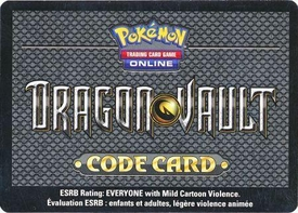 Pokemon Dragon Vault Promo Code Card for Pokemon TCG Online