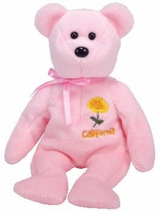 Ty Beanie Baby California Poppy Flower Bear