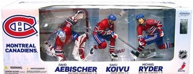 McFarlane Toys NHL Sports Picks Exclusive Action Figure 3-Pack David Aebischer, Saku Koivu & Michael Ryder (Montreal Canadiens)