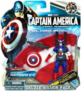 Captain America Movie Deluxe Mission Pack Captain America Paratrooper Dive
