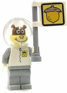 LEGO Spongebob LOOSE Mini Figure Spacewalk Sandy with Acorn Flag