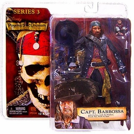 NECA Pirates of the Caribbean Curse of the Black Pearl Series 3 Action Figure Capt. Barbossa BLOWOUT SALE!