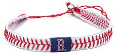 Boston Redsox Official Major League Baseball GameWear Leather Seam Necklace