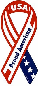 Car Magnet Ribbon USA Proud American