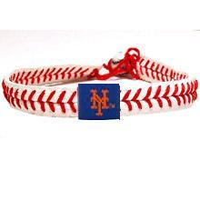 New York Mets Official Major League Baseball GameWear Leather Seam Necklace
