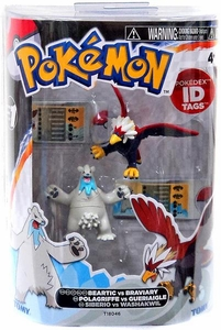 Pokemon TOMY Basic Figure 2-Pack Beartic & Braviary